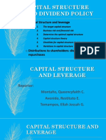 1. Capital Structure and Leverage