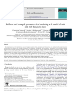Stiffness and strength parameters for hardening soil model of soft and stiff Bangkok clays.pdf