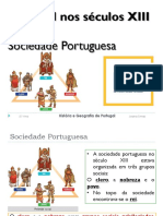 Portugal Nos Séculos XIII e XIV Sociedade Portuguesa