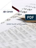 QNB Tariff of Change