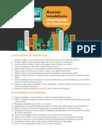 f. Descripción de funciones de un asesor inmobiliario