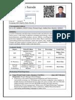 Parag Sarode Resume (MTECH)
