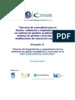 E10 Informe de Implantacion y Capacitacion IESP JOSE SANTOS CHOCANO