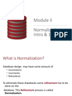 DBMS Normalization- Intro & 1NF