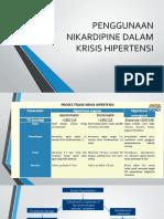 Penggunaan Nikardipine Dalam Krisis Hipertensi