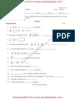 CBSE Class 5 Mathematics Sample Paper Set F