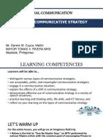 Communicative Strategy