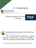 Estabelecimentos de Bebidas e Restauração-Legislação