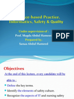 Evidence-based Practice, Informatics, Safety & Quality