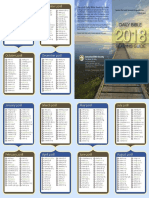Bible Reading Schedule 2018