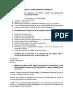 Evidencia 6 Condiciones de Operación