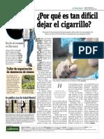 Por Qué Es Tan Dificil Dejar El Cigarrillo