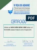 Certificado Rea 2013