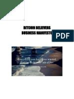 Bitcoin Believers Business Manifesto