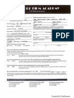 I-20 Questionnaire and Financial Verification Form