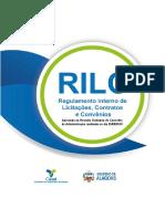 RILC Regulamento Interno de Licitações, Contratos e Convênios