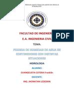INFORME X Hidrologia