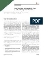Interventions Food Selectivity ASD