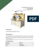 HTR21 of Flexo Label Printing Machina 190522