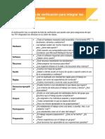 Checklist for Embedding Ict