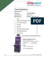 Ersatzteilkatalog. Spielsoftware_ SDM123 _ 126 _ 128 _ Elektronik-Baugruppen Und Platinen 2. 2 Ein- Und Auszahlung 4.