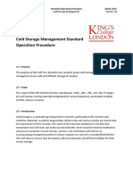 Cold Storage Management, Standard Operating Procedures