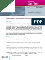 DIEEEO77-2018 Geoingenieria CambioClimatico JonathanGCantero