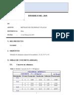 INFORME N°-002-METRADO DE CONCRETO DE COL. Y PLACAS