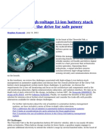 Teardown High Voltage Li Ion Battery Stack Management the Drive for Safe Power