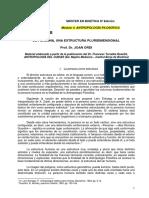 La persona, una estructura pluridimensional (Dr. JOAN ORDI)
