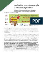 Cardiologi Musicisti in Concerto Contro La Morte Cardiaca Improvvisa