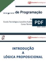 Lógica de Programação e Algoritmos - Prof. Franco