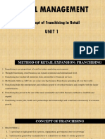 Franchising in Retail