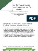 Modelo de Programacion Lineal Para Problemas de Dietas