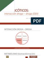Antipsicóticos - interacción droga droga