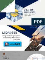 Midas Gen Step by Step Installation