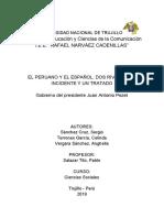 Informe de Historia - Gobierno de Juan Antonio Pezet