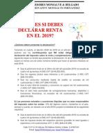 Requisitos Para Declarar 2018