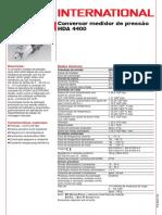 Transdutor de Pressão HDA 4400