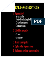 16 Corneal Degenerations