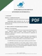 Modelo de Contrato de servicos