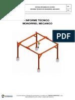 Informe Tecnico Monorriel Mecanico Unidad San Cristobal