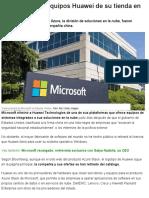 Microsoft Saca Equipos Huawei de Su Tienda en Línea