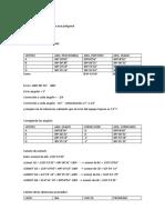 Calculo de Poligonal Con Datos de Campo