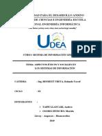 Aspectos Éticos y Sociales en Los Sistemas de Información