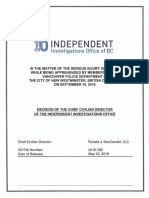 IIO report on Sept. 19, 2016 incident