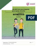 RBD5622 DIAGNOSTICO MATEMATICA 7A Resultados Curso Por Pregunta Equipo Docente