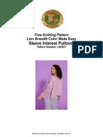 Sleeve Interest Pullover (Knit)