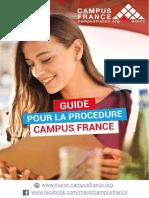 Guide Campus France Maroc 29-11. 2018 PDF