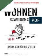 escape room - wohnen- alle unterlagen a2-b1 1